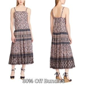 Chaps by Ralph Lauren | Floral Smocked Maxi Dress
